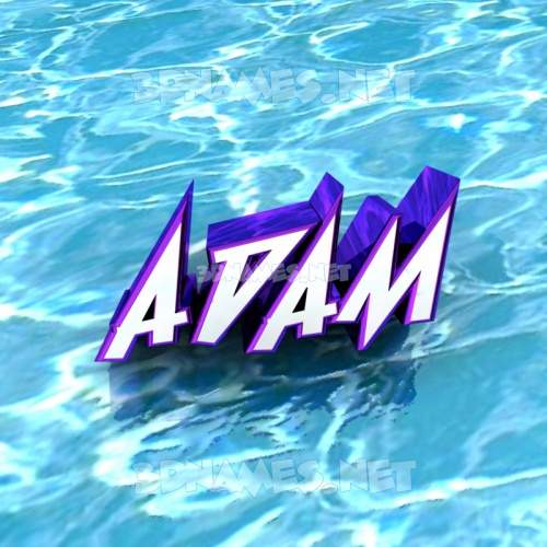 Water 3D Name for adam