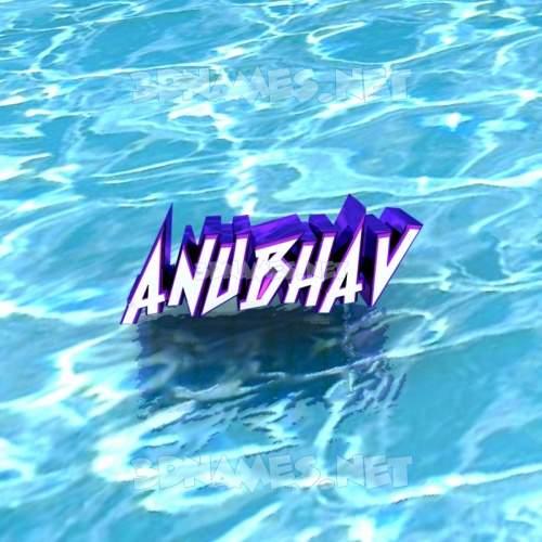 Water 3D Name for anubhav