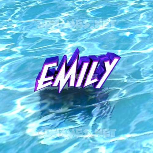 Water 3D Name for emily