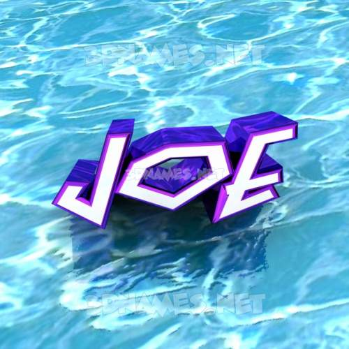 Water 3D Name for joe
