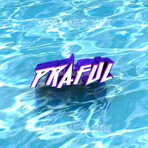 Water 3D Name for praful