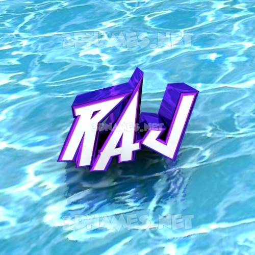 Water 3D Name for raj