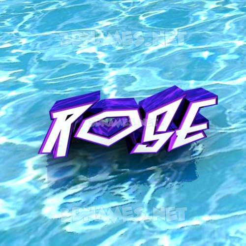 Water 3D Name for rose