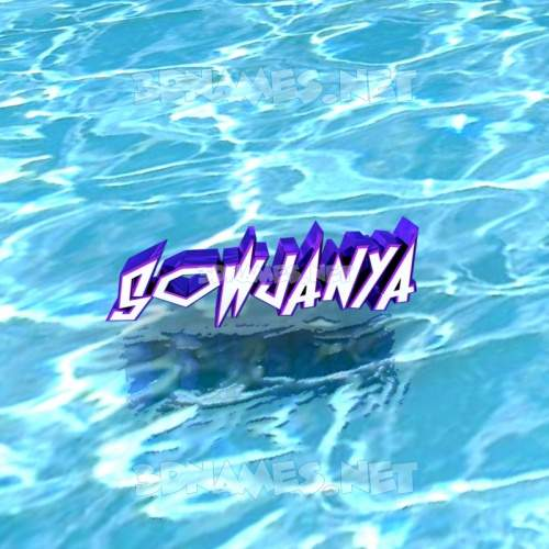 Water 3D Name for sowjanya