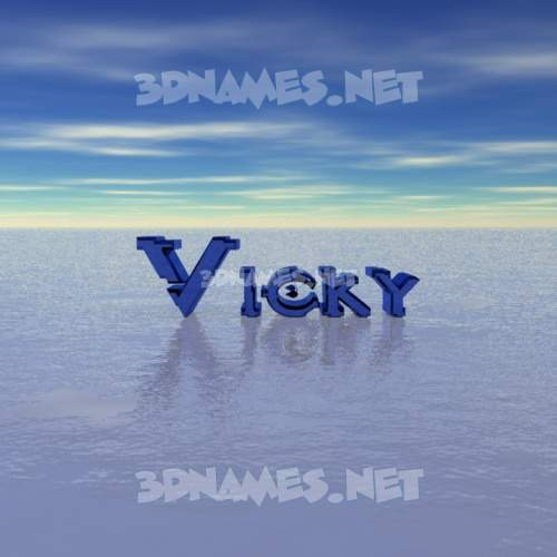 Horizon 3D Name for vicky
