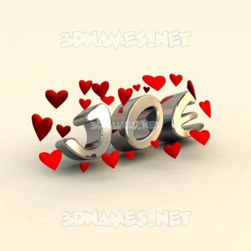 In Love 3D Name for joe