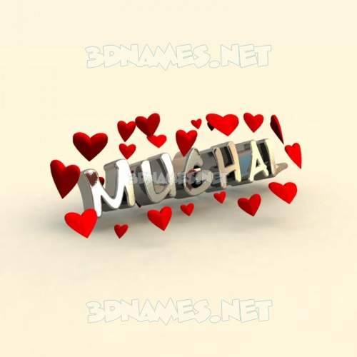 In Love 3D Name for mughal