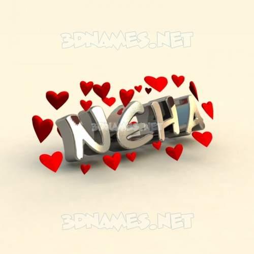 In Love 3D Name for neha