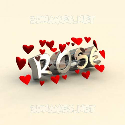 In Love 3D Name for rose