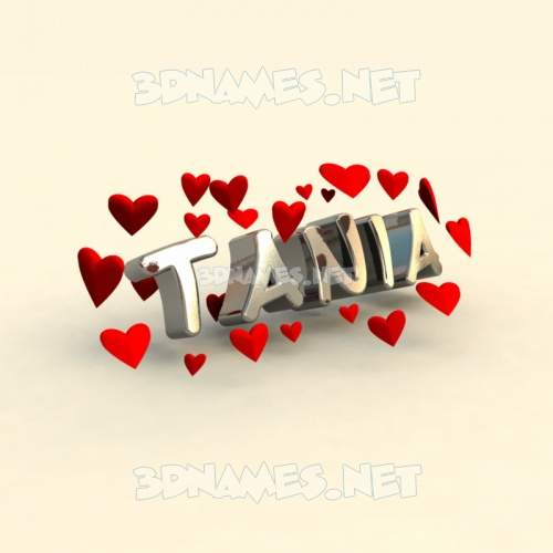 In Love 3D Name for tania