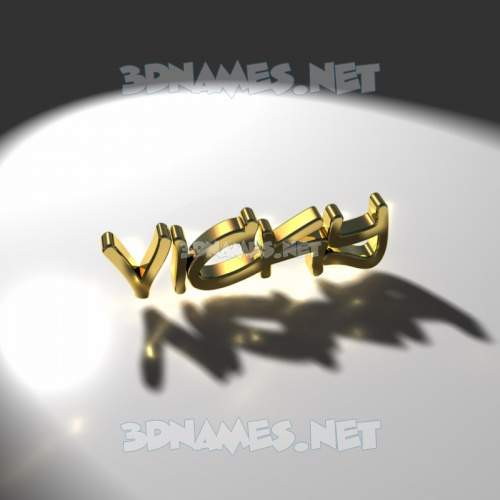 Gold Shine 3D Name for vicky