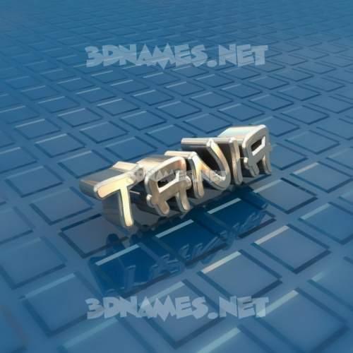 Blue Bling 3D Name for tania
