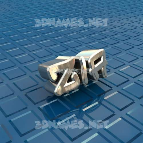 Blue Bling 3D Name for zia