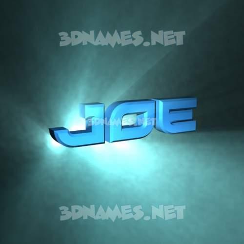 Light Shine 3D Name for joe