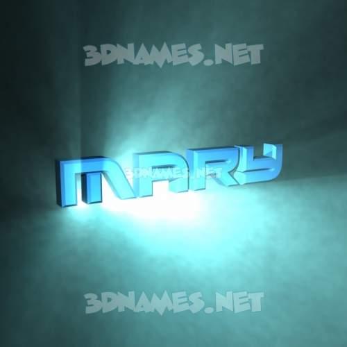 Light Shine 3D Name for mary