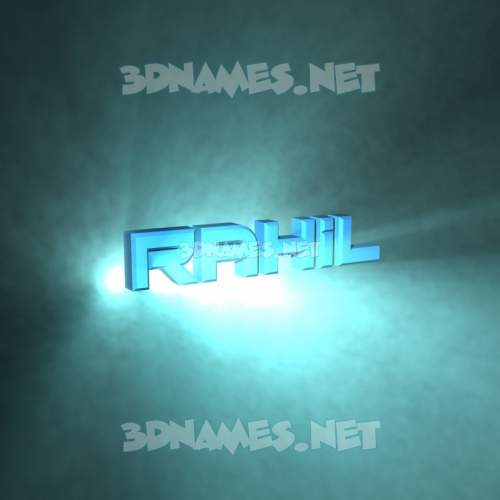 Light Shine 3D Name for rahil
