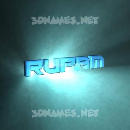 Light Shine 3D Name for rupam