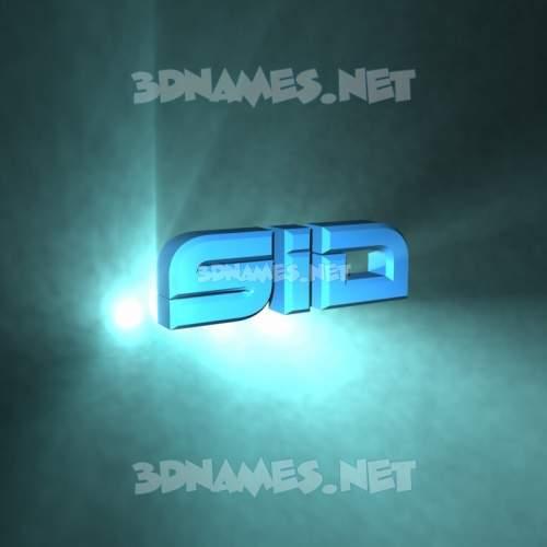 Light Shine 3D Name for sid