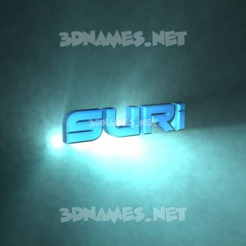 Light Shine 3D Name for suri