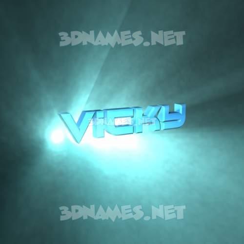 Light Shine 3D Name for vicky