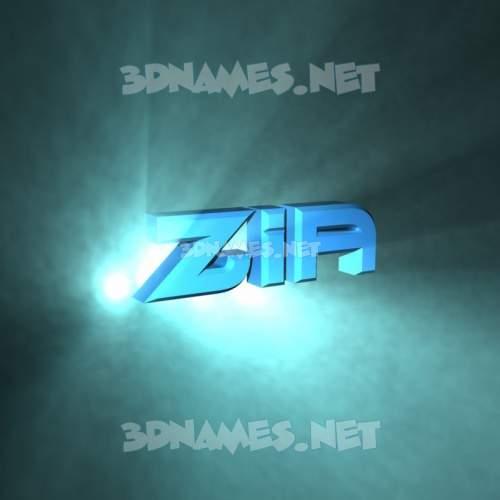 Light Shine 3D Name for zia