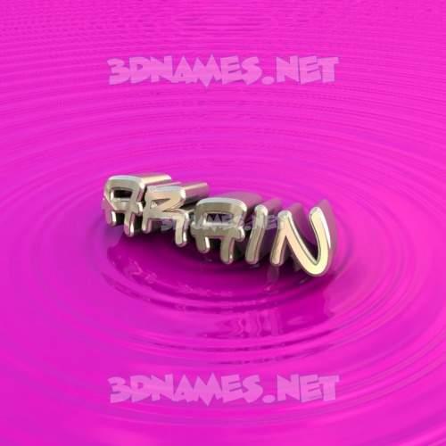 Pink Graffiti 3D Name for arain