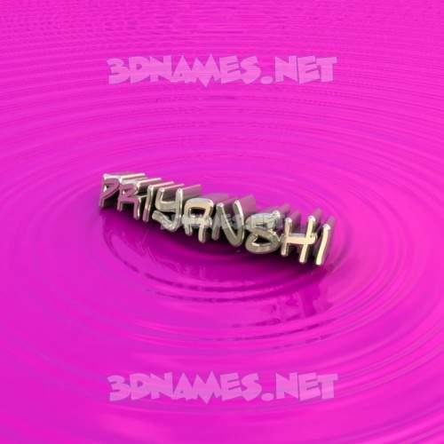 Pink Graffiti 3D Name for priyanshi