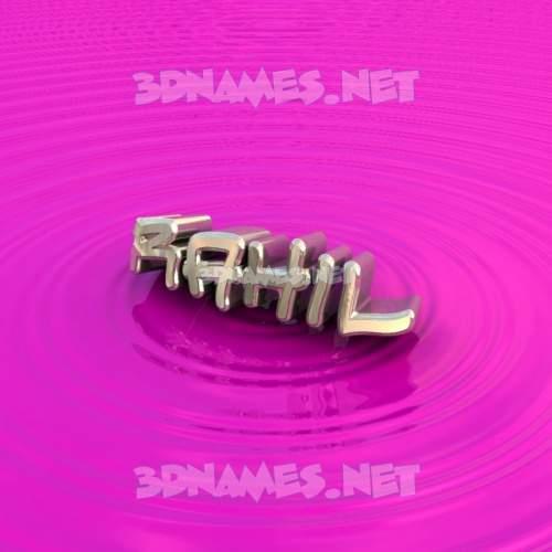 Pink Graffiti 3D Name for rahil