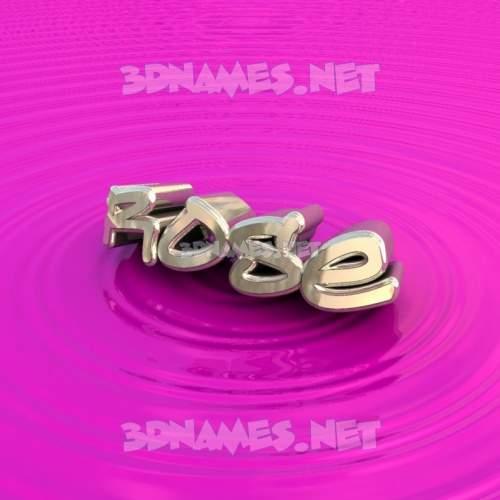 Pink Graffiti 3D Name for rose