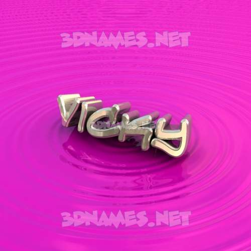 Pink Graffiti 3D Name for vicky