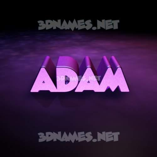 Big Purple 3D Name for adam