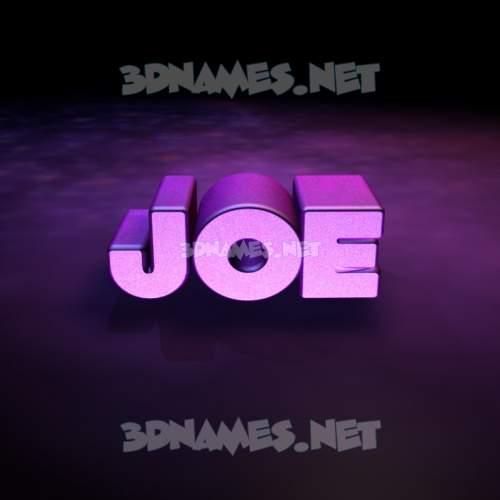 Big Purple 3D Name for joe
