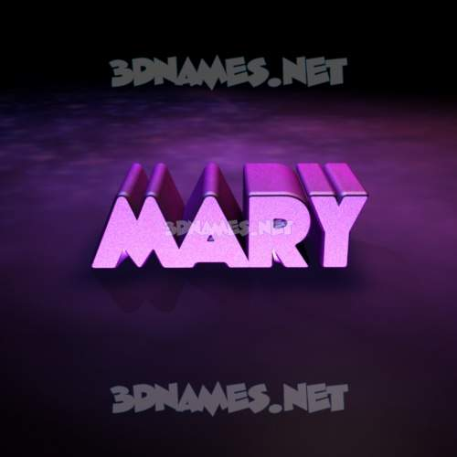 Big Purple 3D Name for mary