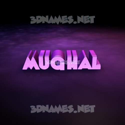 Big Purple 3D Name for mughal