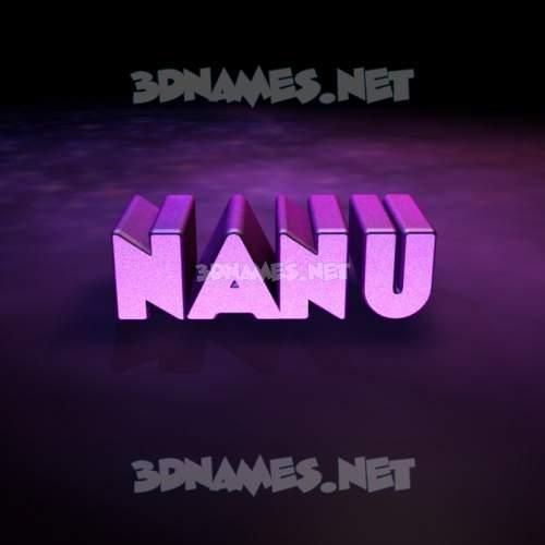 Big Purple 3D Name for nanu