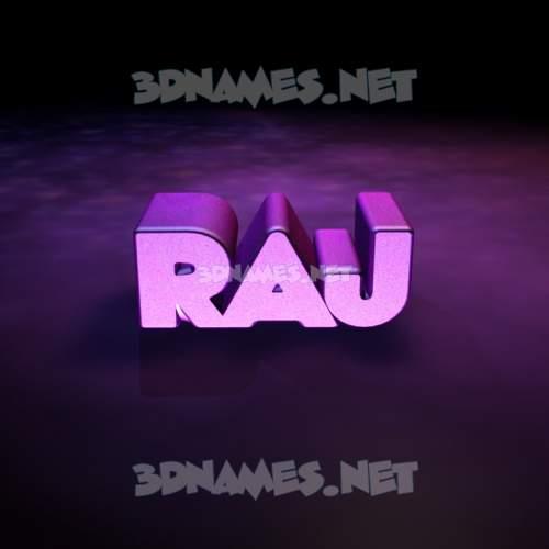Big Purple 3D Name for raj
