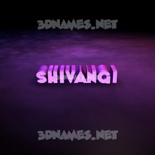 Big Purple 3D Name for shivangi