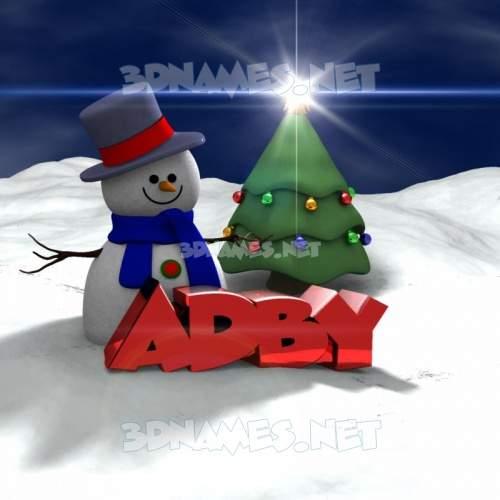 Happy Xmas 3D Name for adby