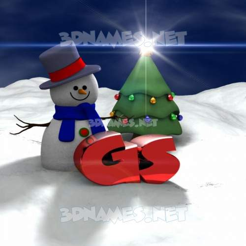 Happy Xmas 3D Name for gs
