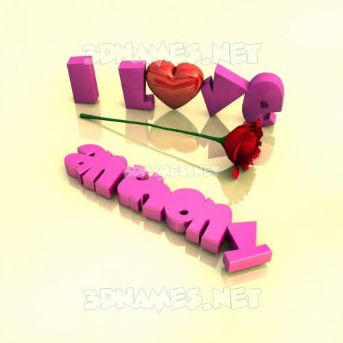 I Love ??? 3D Name for anthony