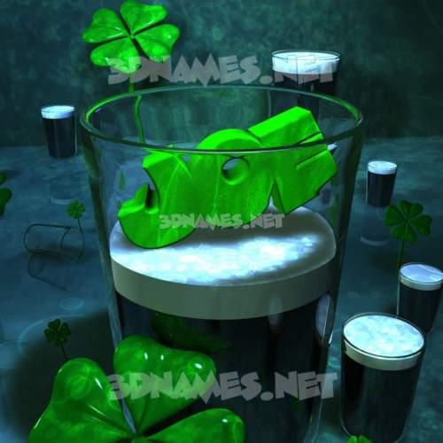 Love Irish 3D Name for joe