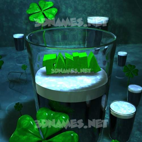 Love Irish 3D Name for tania