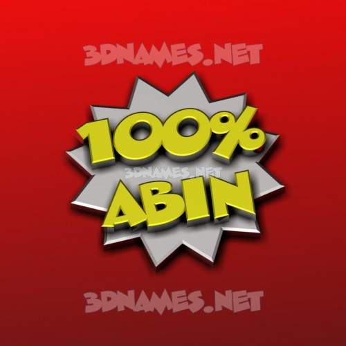 100 Percent 3D Name for abin