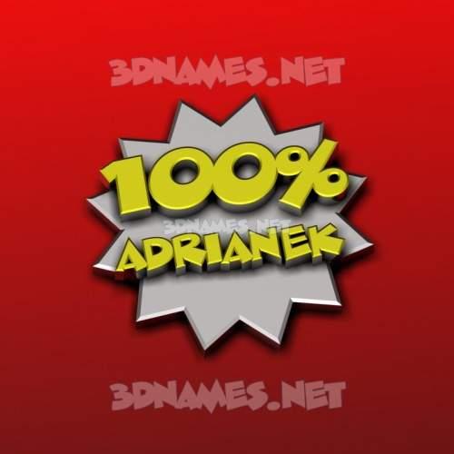 100 Percent 3D Name for adrianek