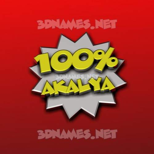 100 Percent 3D Name for akalya