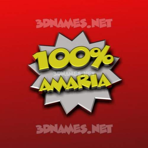 100 Percent 3D Name for amaria