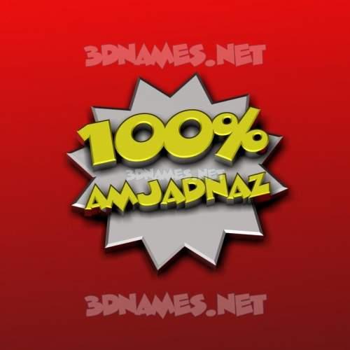 100 Percent 3D Name for amjadnaz