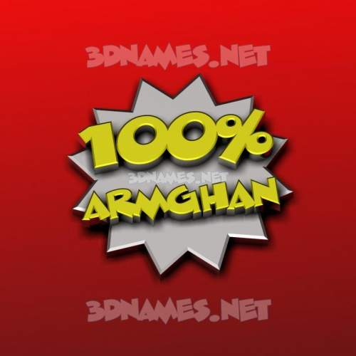 100 Percent 3D Name for armghan
