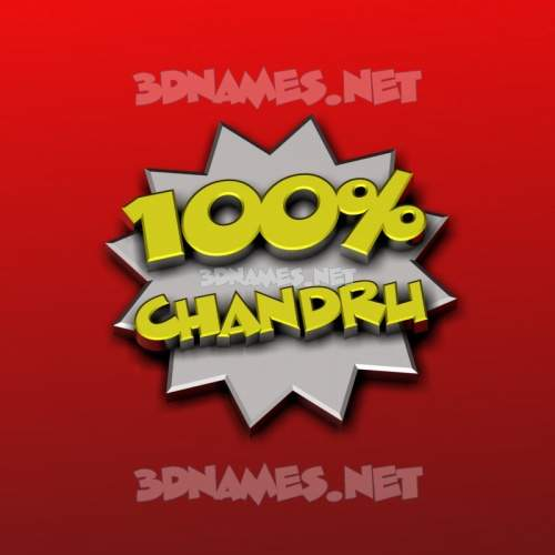 100 Percent 3D Name for chandru