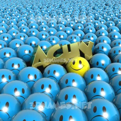 Special Smileys 3D Name for achy
